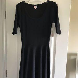 NWT LuLaRoe 'Nicole' small black dress